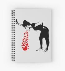 Cuaderno de espiral Lovesick - Banksy, Streetart Street Art, Grafitti, Obras de arte, Diseño para hombres, Mujeres, Niños