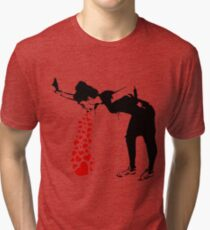 Lovesick - Banksy, Streetart Street Art, Grafitti, Artwork, Design For Men, Women, Kids Tri-blend T-Shirt