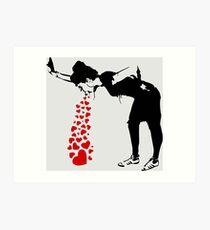 Lovesick - Banksy, Streetart Street Art, Grafitti, Artwork, Design For Men, Women, Kids Art Print