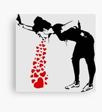 Lovesick - Banksy, Streetart Street Art, Grafitti, Artwork, Design For Men, Women, Kids Canvas Print
