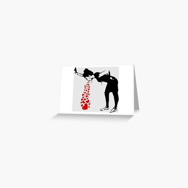 Lovesick - Banksy, Streetart Street Art, Grafitti, Artwork, Design For Men, Women, Kids Greeting Card