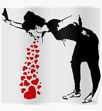 Lovesick - Banksy, Streetart Straßenkunst, Grafitti, Artwork, Design für Männer, Frauen, Kinder Poster