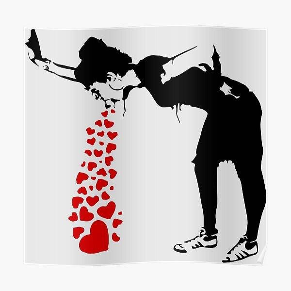 Lovesick - Banksy, Streetart Street Art, Grafitti, Oeuvre d'art, Design pour hommes, femmes, enfants Poster