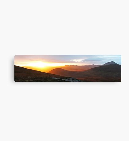 Langwell Sunset Canvas Print