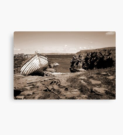 The Haven, Swona, Orkney Canvas Print