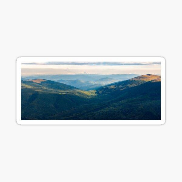 beautiful panorama of mountain range at sunrise Sticker