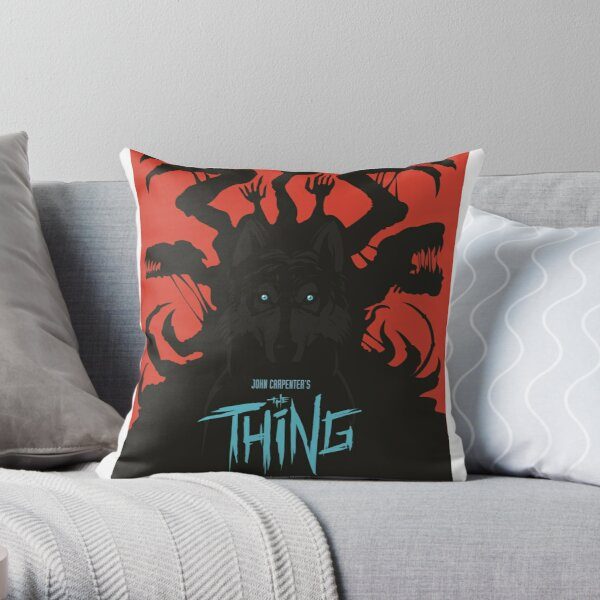 The Thing 1982 amerikanisches Science-Fiction-Horror-Filmplakat Dekokissen