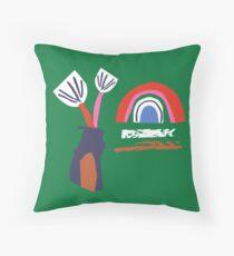 my home is my rainbow Throw Pillow