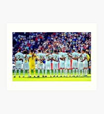 real madrid fullteam Art Print