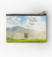 panorama of beautiful mountainous countryside Studio Pouch