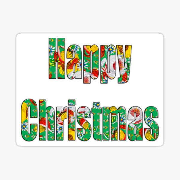 Canal flowers pattern happy christmas Sticker