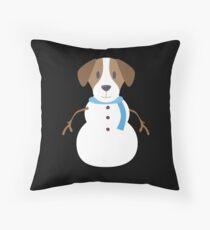 Christmas Jack Russel Terrier T-Shirt Snowman Dog Gift Tee Throw Pillow