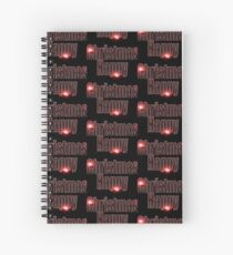 Happy Christmas glow red  Spiral Notebook