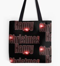 Happy Christmas glow red  Tote Bag