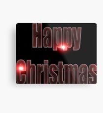Happy Christmas glow red  Metal Print
