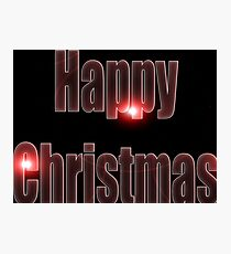 Happy Christmas glow red  Photographic Print