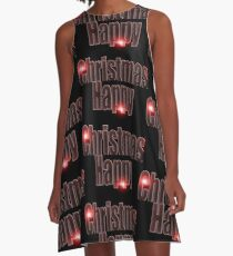 Happy Christmas glow red  A-Line Dress