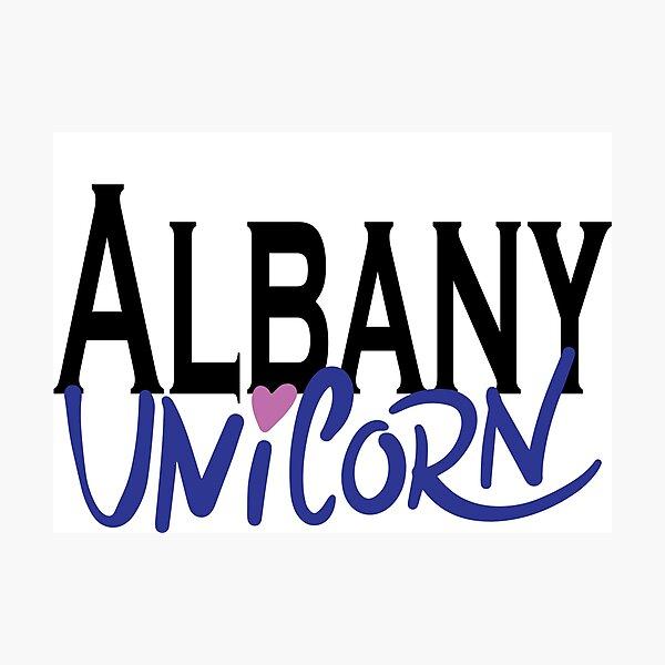 Albany Unicorn New York Raised Me Photographic Print