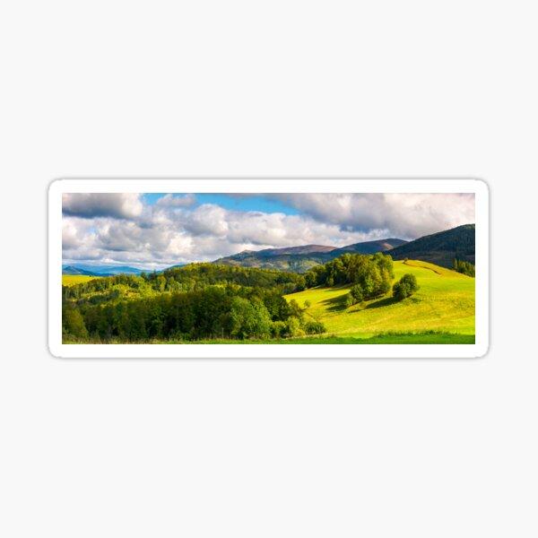 gorgeous panorama of mountainous landscap Sticker