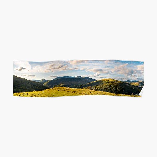 panorama of mountainous countryside Poster