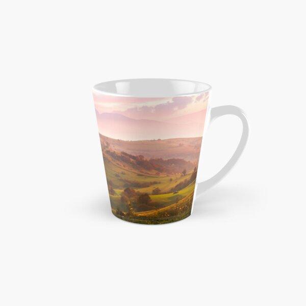 purple sunrise in foggy countryside Tall Mug
