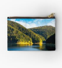 storage reservoir in mountain at sunrise Studio Pouch