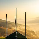empty hay barrack on a hill side by mike-pellinni