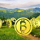 Bearish currency on slope of a hill by mike-pellinni