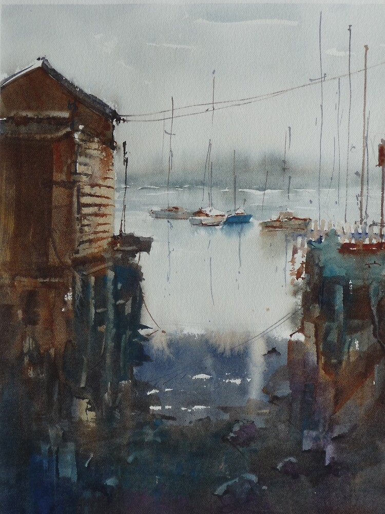 Swan Bay Enterence, Queenscliff, Victoria by Mick Kupresanin