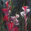 Magenta Lillies by Marg Pearson
