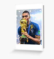 Kylian Mbappe PSG Greeting Card
