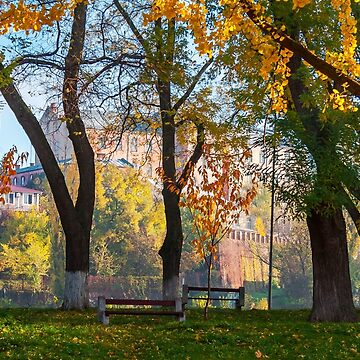 autumn park on Pravoslavna naberezhna by mike-pellinni