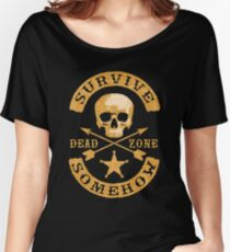 SURVIVE SOMEHOW (BIKER STYLE) Women's Relaxed Fit T-Shirt