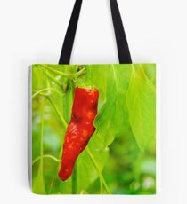 chili pepper grow close up Tote Bag