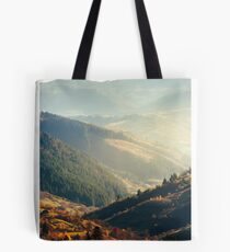 beautiful afternoon in mountains Tote Bag