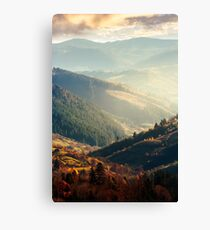 beautiful afternoon in mountains Canvas Print