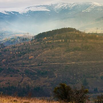 gloomy november scenery in mountains by mike-pellinni