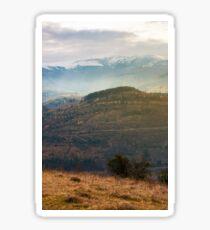 gloomy november scenery in mountains Sticker