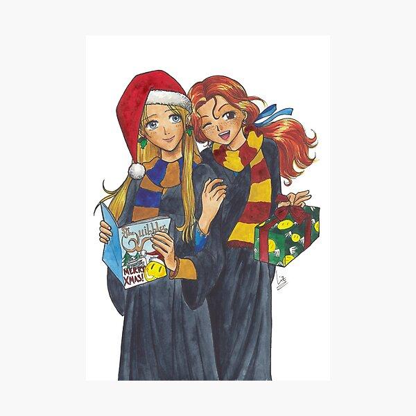 Luna and Ginny os desean feliz navidad Lámina fotográfica