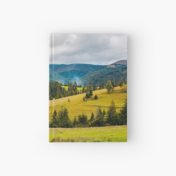 overcast autumn day in mountains Hardcover Journal