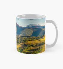 panorama of mountainous rural area in autumn Mug
