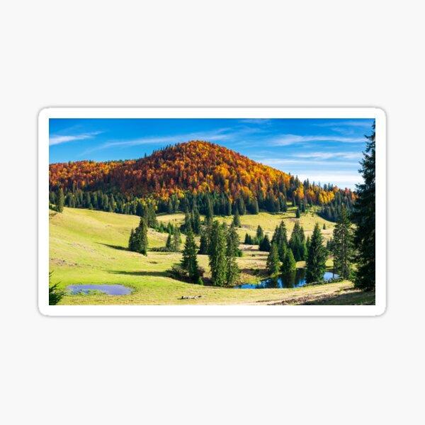 splendid autumn landscape on a bright day Sticker