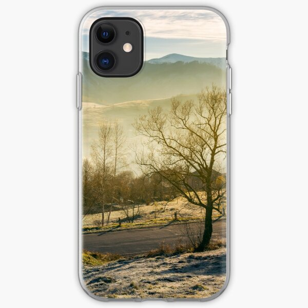 rural valley in autumn at sunrise iPhone Soft Case