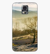 rural valley in autumn at sunrise Case/Skin for Samsung Galaxy