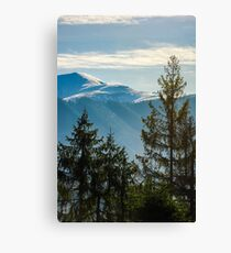 lovely november countryside background Canvas Print