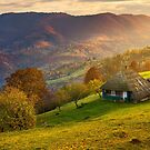 gorgeous mountainous countryside at sunrise by mike-pellinni