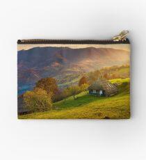 gorgeous mountainous countryside at sunrise Studio Pouch