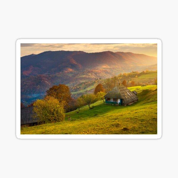 gorgeous mountainous countryside at sunrise Sticker