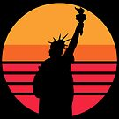 Statue of Liberty Sunset Icon by electrovista