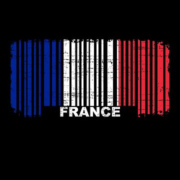 France flag barcode by S-p-a-c-e